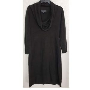 Connected Apparel Black Scoop Neck Dress - Size XL